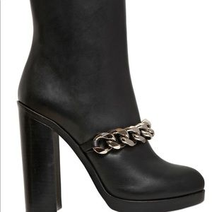 GIVENCHY Calfskin Leather Chain Mirta boots